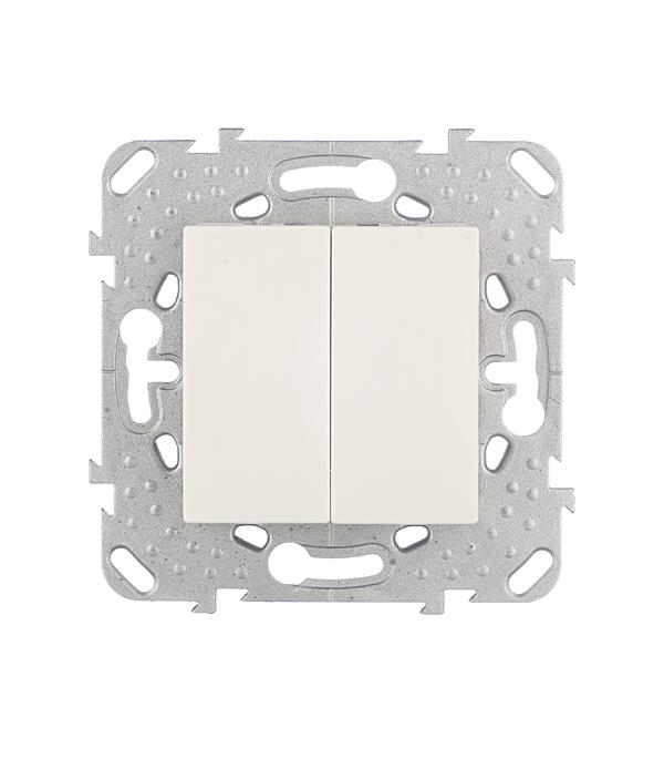 Механизм переключателя двухклавишного Schneider Electric Unica с/у бежевый выключатель двухклавишный наружный бежевый 10а quteo