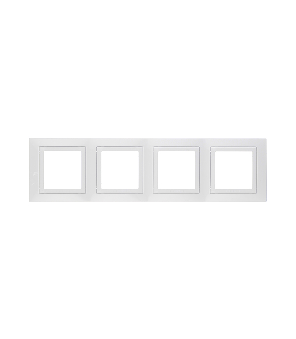 Рамка четырехместная Schneider Electric Unica белая