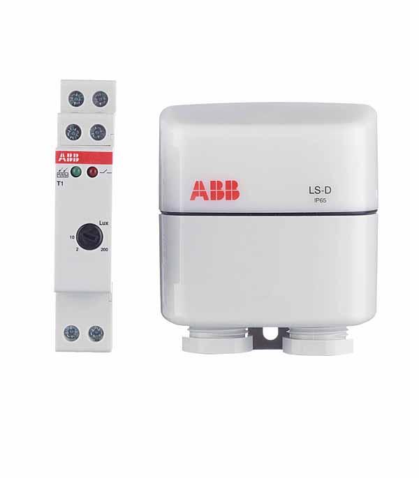 Фотореле модульное ABB c выносным датчиком T1 abb поворотный светорегулятор abb impuls для ламп накаливания 600 вт черный бриллиант