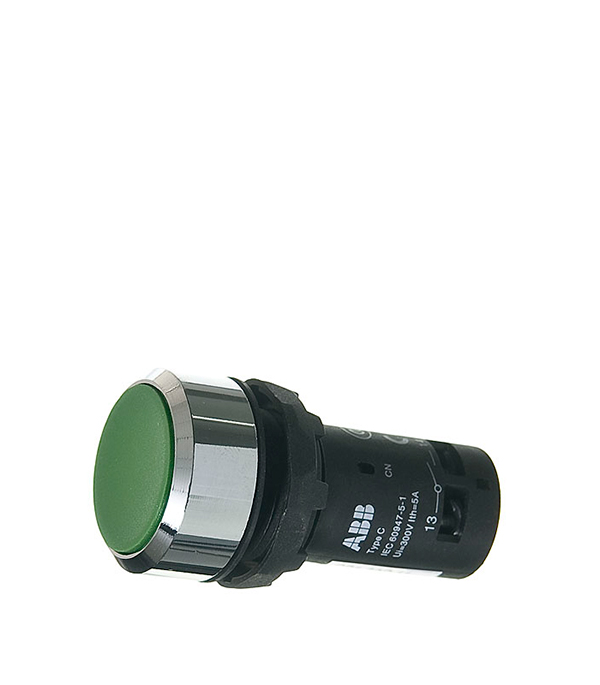 Кнопка без фиксации ABB CP1-30G-11 зеленая abb поворотный светорегулятор abb impuls для ламп накаливания 600 вт черный бриллиант