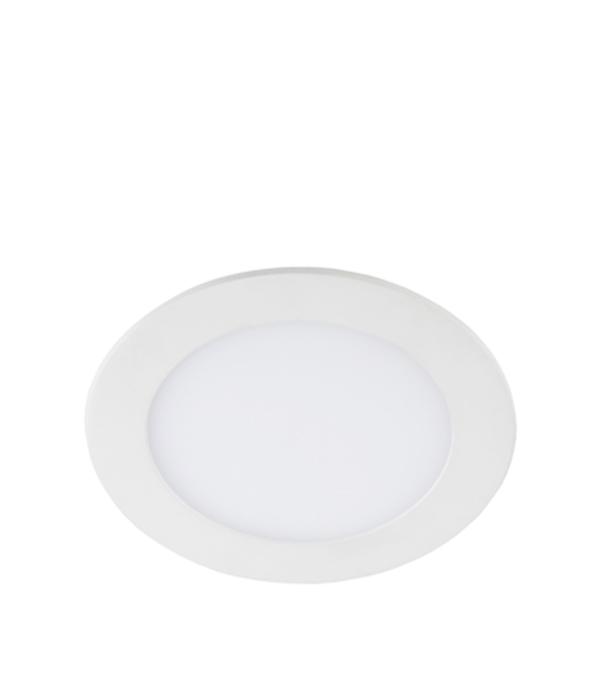 Светильник встраиваемый светодиодный 12 Вт круглый белый, IP20, 4000K (дневной свет), ЭРА тамоников а холодный свет луны