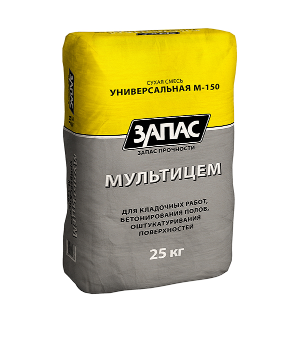 ЦПС-150 Мультицем (смесь универсальная) Запас, 25 кг  цпс 150 кремин смесь универсальная uc15 мастер гарц 50 кг
