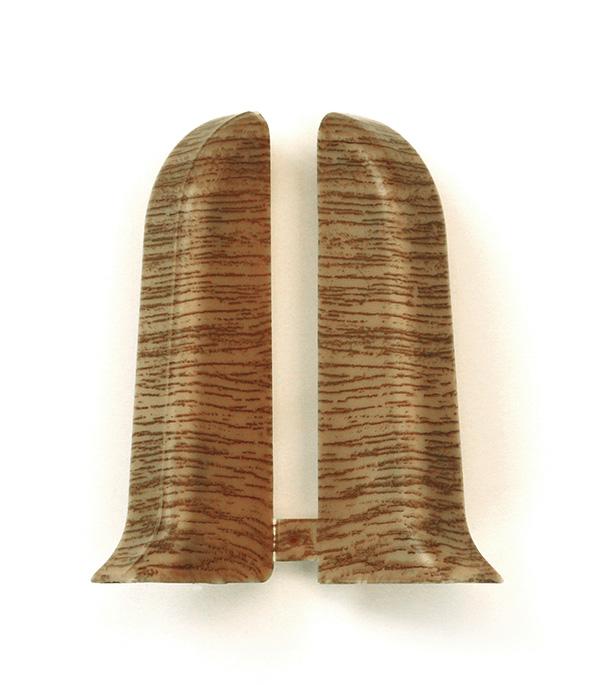 Заглушки торцевые (левая+правая) Дуб коньячный 55 мм