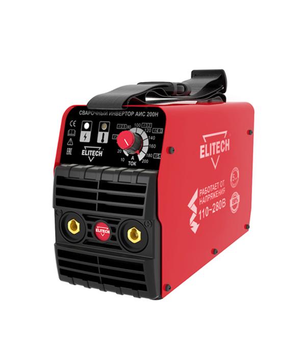 Сварочный аппарат (инвертор) ELITECH АИС 200Н, 275В, 200А, ПВ 80%, до 5,0 мм