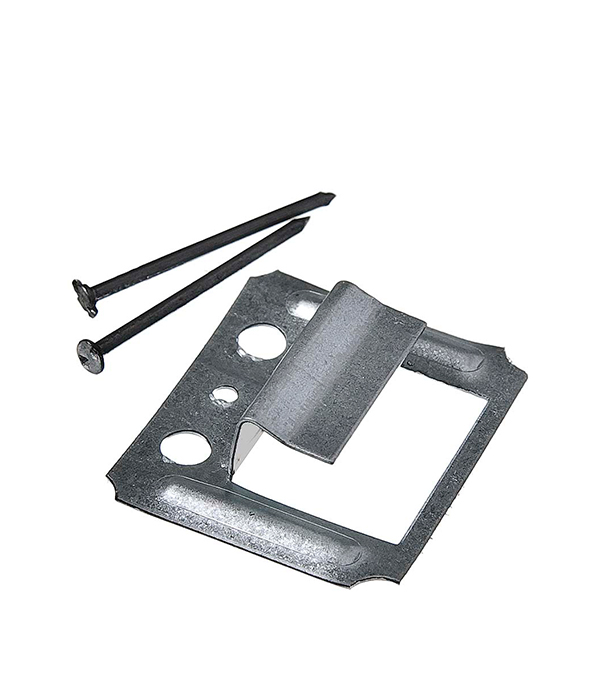 Крепеж (кляймер) №7 с гвоздями для вагонки, блок хауса и имитатора бруса (50 шт)