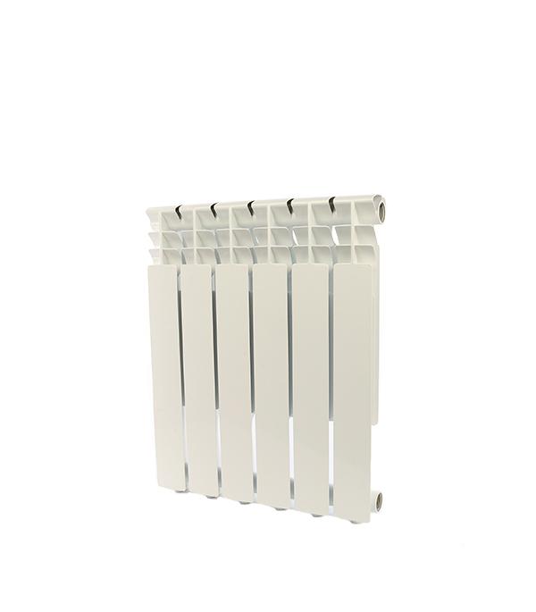 Радиатор алюминиевый 1 Rommer  Optima 500, 6 секций радиатор отопления rommer optima bm 500 биметаллический 8 секций