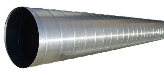 Воздуховод круглый стальной оцинкованный d125х2000 мм