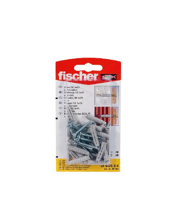 Дюбель с шурупом 5x25 SX SK (20 шт.) нейлон Fischer