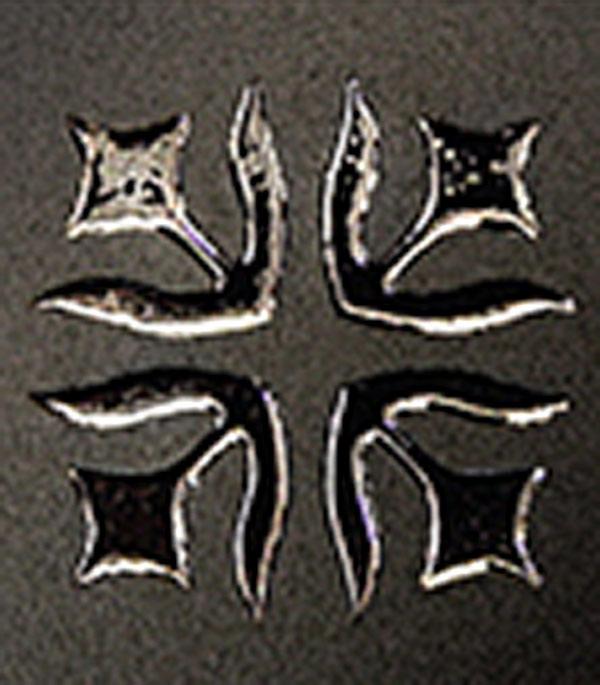 Керамогранит декор 60х60х10,5 мм Лимож черный/Керамика Будущего