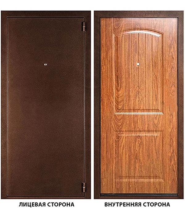 Дверь металлическая ДК Гамма (Классика) 980х2050 мм правая, без ручки