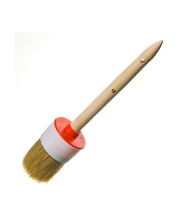 Кисть круглая 60 мм натуральная щетина деревянная ручка Эконом