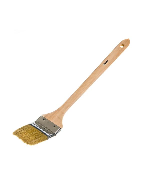 Кисть радиаторная 63 мм  натуральная щетина деревянная ручка Эконом