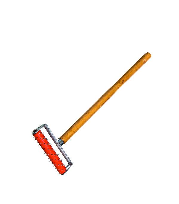 Валик игольчатый 150 мм игла 14 мм с рукояткой для ГКЛ ножовка для гипсокартона 150 мм fit it 15377