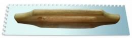 Гладилка зубчатая 480х130 мм зуб 6х6 мм с деревянной ручкой