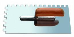 Гладилка зубчатая 280х130 мм зуб 6х6 мм с деревянной ручкой