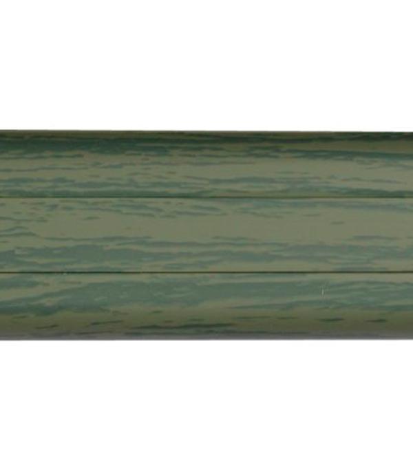 Плинтус с к/к и  мягким краем ольха зеленая 12, 51х21х2500 мм Rico