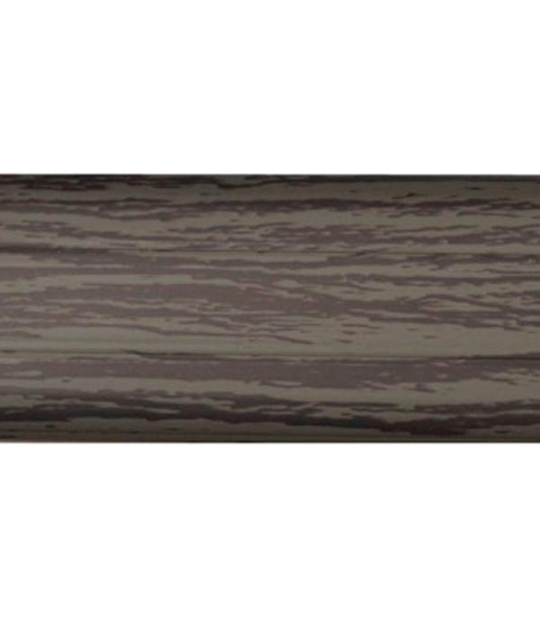 Плинтус с к/к и  мягким краем ольха темно-серая 14, 51х21х2500 мм Rico