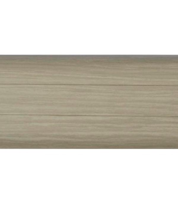 Плинтус с к/к и  мягким краем ясень серый 112, 54х21х2500 мм Rico Leo