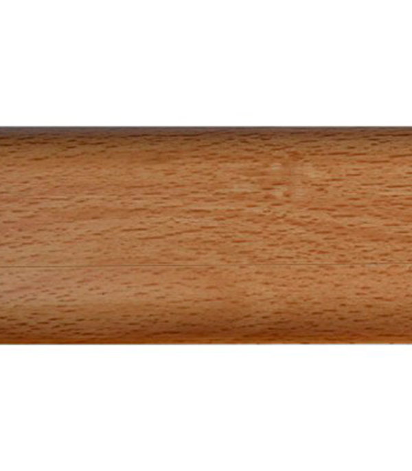 Плинтус с к/к и  мягким краем бук благородный 130, 54х21х2500 мм Rico Leo